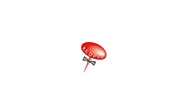 餐饮logo设计:一个披萨的logo,logo整体做成一个图钉的形状